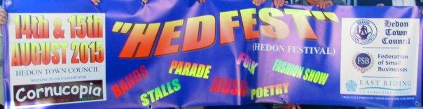 HedFest Banner hands