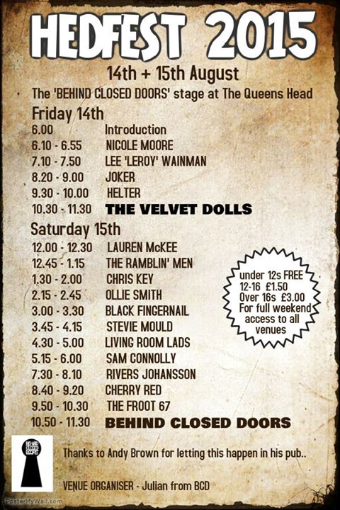 Queen's Line Up at HedFest