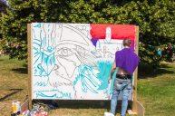 Graffiti Artist mid-stream - Martin Cooper
