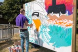 Hedfest Graffiti artist