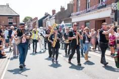Parade band brass