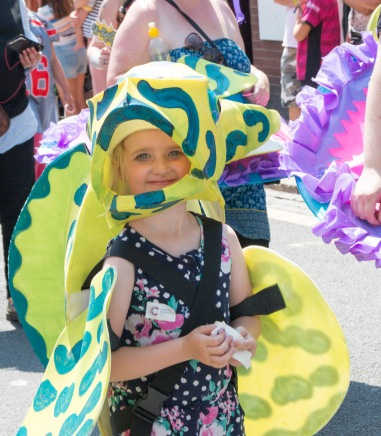 Parade butterfly girl