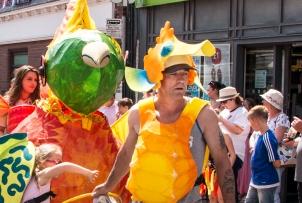 Parade general and Sam Tina